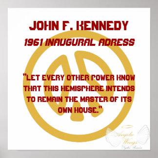 ジョンF、就任ケネディ1961 ddressカスタマイズ ポスター
