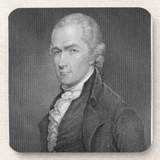 ジョンFr著刻まれるアレクサンダー・ハミルトン(1757-1804年) コースター