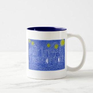 ジョンGaltはだれであるかニューヨーク上の星明かりの夜…か。 ツートーンマグカップ
