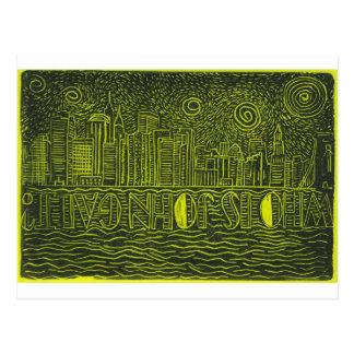 ジョンGaltはだれであるかニューヨーク上の星明かりの夜…か。 ポストカード