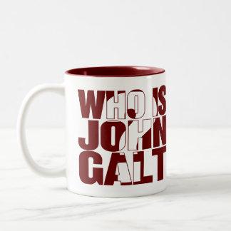 ジョンGaltはだれですか。 11ozマグの赤 ツートーンマグカップ