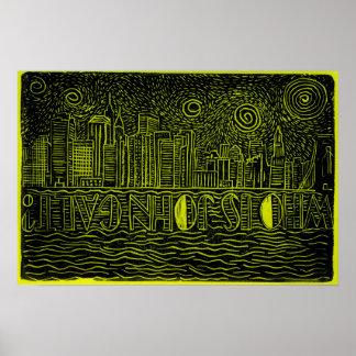 ジョンGalt…ニューヨークシティのスカイラインポスターはだれであるか ポスター