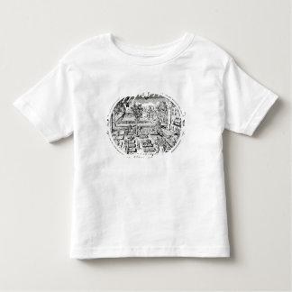 ジョンGerard著「Herball」からのFrontispiece、( トドラーTシャツ
