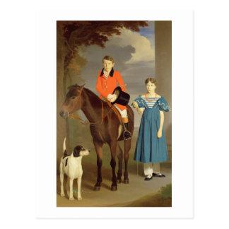 ジョンGubbinsニュートンおよび彼の姉妹メリー1832-33年( ポストカード