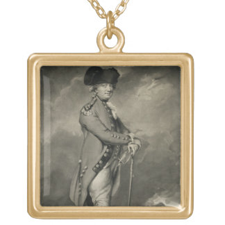 ジョンJo著刻まれるCornwallis (1738-1805年)概要 ゴールドプレートネックレス