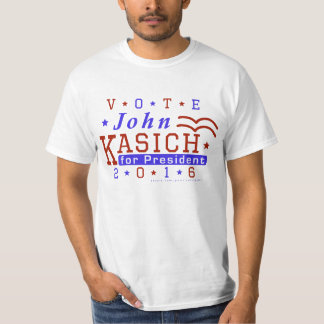 ジョンKasichの大統領2016年の選挙の共和党員 Tシャツ