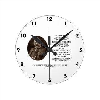 ジョンPierpontモーガンは問題解決することができません ラウンド壁時計