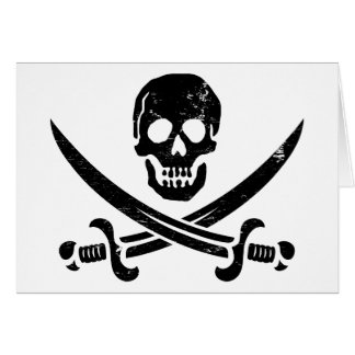 ジョンRackham (さらさジャック)の海賊旗の海賊旗 カード