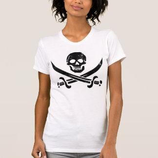 ジョンRackham (さらさジャック)の海賊旗の海賊旗 Tシャツ
