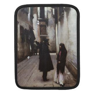 ジョンSargentを絵を描くベニス風の通りの芸術 iPadスリーブ
