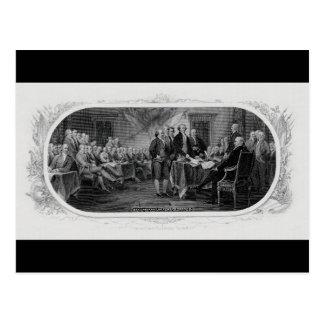 ジョンTrumbull刻まれた独立宣言 ポストカード