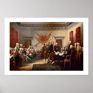 ジョンTrumbull著独立宣言 ポスター