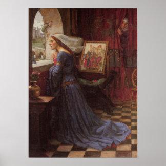 ジョンWのウォーターハウス-公平なRosamund (1917年) ポスター