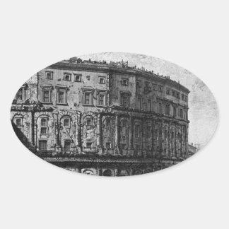 ジョヴァンニ・バッティスタ・ピラネージ著マルケルスの劇場 楕円形シール