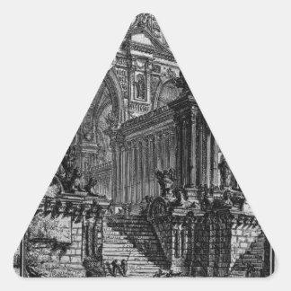 ジョヴァンニ・バッティスタ・ピラネージ著実質ホールのアイディア 三角形シール