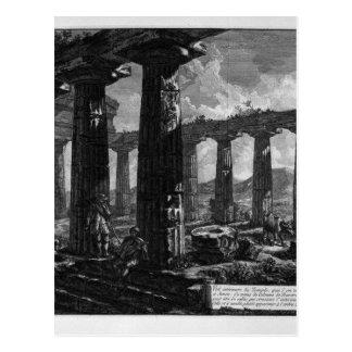 ジョヴァンニ・バッティスタ・ピラネージ著寺院の中 ポストカード