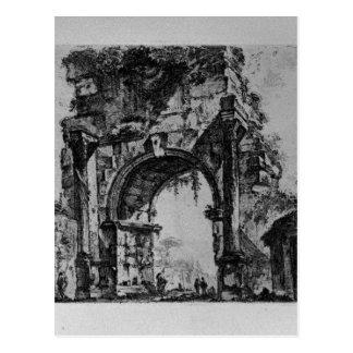 ジョヴァンニ・バッティスタ・ピラネージ著Augustusのフォーラム ポストカード