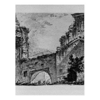 ジョヴァンニ・バッティスタ・ピラネージ著Janusの寺院 ポストカード