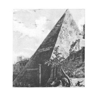ジョヴァンニ・バッティスタ・ピラネージ著Veduteのディディミアムローマ ノートパッド