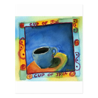 ジョーのジャワのコップのコップ ポストカード