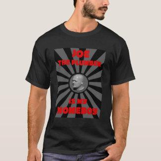 ジョーは鉛管工私の同郷人-人の黒いティーです Tシャツ