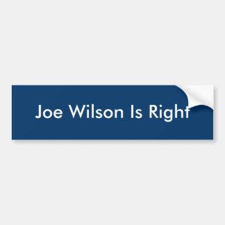 ジョーウイルソンは正しいです バンパーステッカー