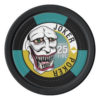 ジョーカーのトランプのポーカーのポーカー用のチップ-ティール(緑がかった色) ポーカーチップ