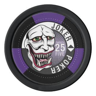 ジョーカーのトランプのポーカーのポーカー用のチップ-紫色 カジノチップ