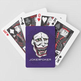 ジョーカーのトランプのポーカーの紫色 バイスクルトランプ