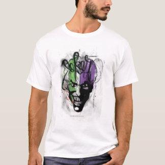 ジョーカーのネオンエアブラシのポートレート Tシャツ
