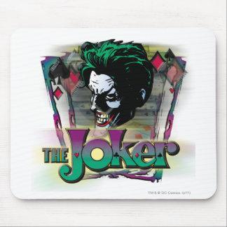 ジョーカー-顔およびロゴ マウスパッド