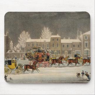 ジョージの狩りによって刻まれるクリスマスへのアプローチ マウスパッド