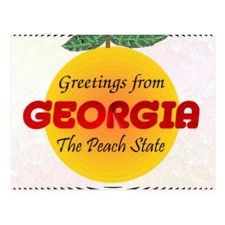 ジョージアからの挨拶 ポストカード