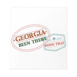 ジョージアそこにそれされる ノートパッド