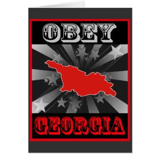 ジョージアに従って下さい カード