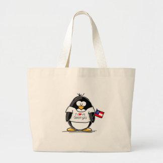 ジョージアのペンギン ラージトートバッグ