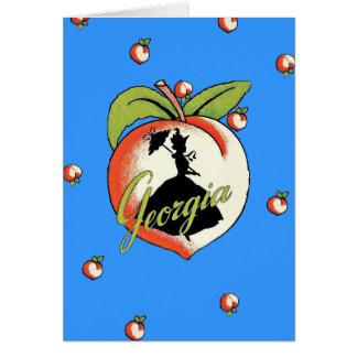 ジョージアのモモのメッセージカード カード