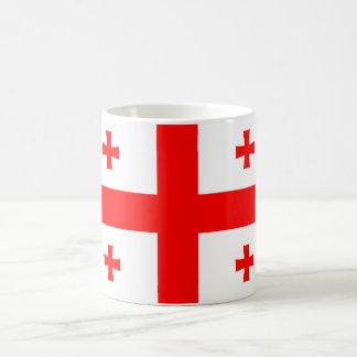 ジョージアの国旗の記号 コーヒーマグカップ