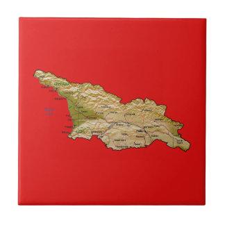 ジョージアの地図のタイル タイル
