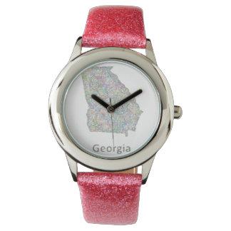 ジョージアの地図 腕時計