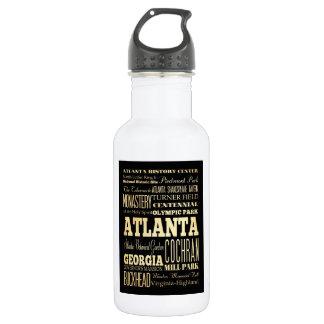 ジョージアの州のタイポグラフィの芸術のアトランタ都市 ウォーターボトル