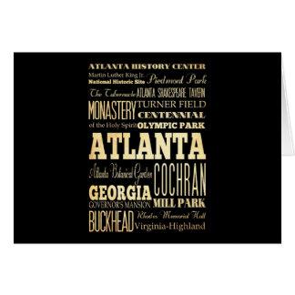 ジョージアの州のタイポグラフィの芸術のアトランタ都市 カード