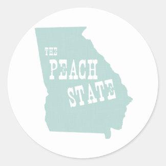 ジョージアの州のモットーのスローガン 丸形シール・ステッカー