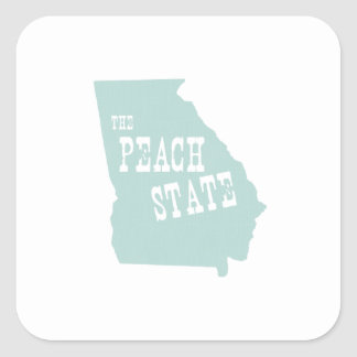 ジョージアの州のモットーのスローガン 正方形シール