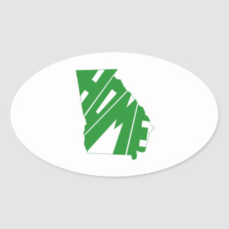 ジョージアの州の家 卵形シール・ステッカー