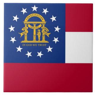 ジョージアの州の旗のタイル タイル