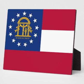 ジョージアの州の旗のプラク フォトプラーク