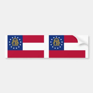 ジョージアの州の旗 バンパーステッカー