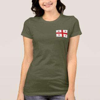 ジョージアの旗および地図dkのTシャツ Tシャツ