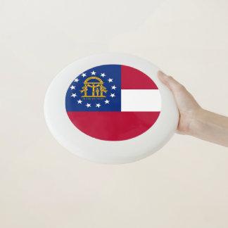 ジョージアの旗が付いている愛国心が強いフリズビー Wham-Oフリスビー
